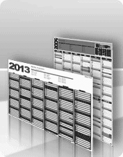 Calendarios murales blanco y negro
